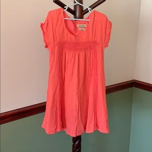 Little girls coral Lucky Brand dress